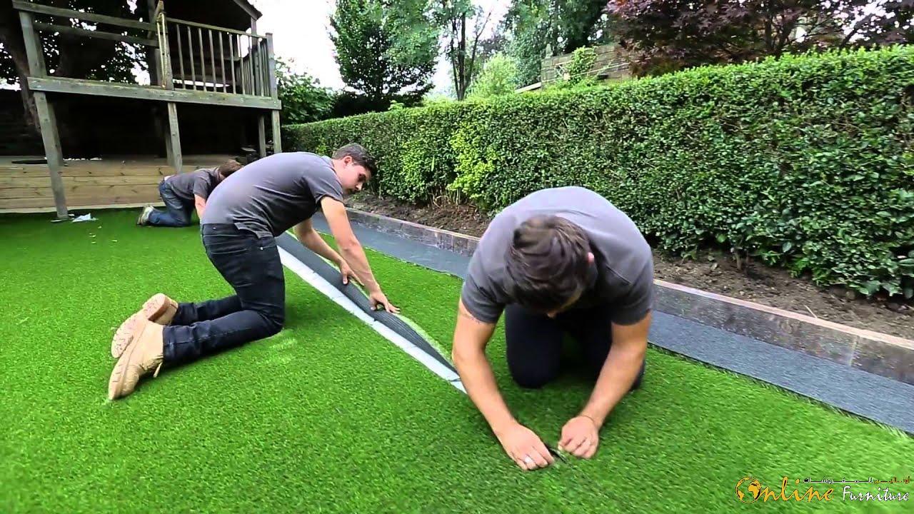 artificial grass fitting